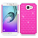 Asmyna Cell Phone Case for Samsung A710 Galaxy A7 - Retail Packaging - Pink/White