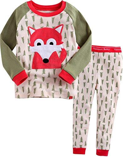 Vaenait Baby Little Girl's 2 Pieces Sleepwear Pajama Top Bottom Set Animal Fox XS