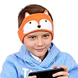 FIRIK Kids Headphones Volume Limited with Easy Adjustable Kids Costume Headband Silky Headphones for Children, Perfect for Travel and Home - Fox