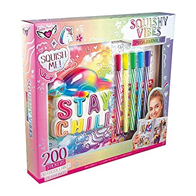 Fashion Angels Stay Chill Sloth Squishy Smash Journal Set 12525 Journaling/Scrapbooking Kit, Squishy Diary, Multicolor: Toys & Games