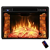AKDY-28-Freestanding-Electric-Fireplace-Insert-Heater-in-Black-with-Tempered-Glass-and-Remote-Control