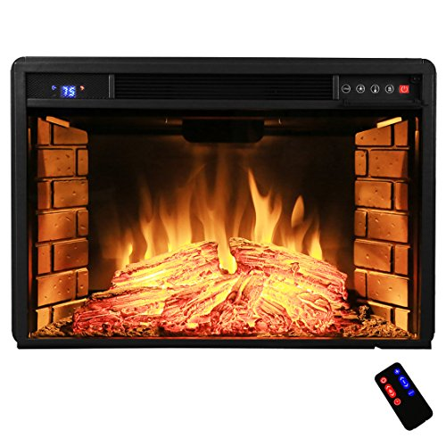 Freestanding Electric Fireplace Tempered Control