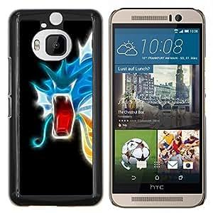 EJOOY---Cubierta de la caja de protección para la piel dura ** HTC One M9Plus M9+ M9 Plus ** --Flaming neón del dragón