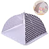 Mesh Food Cover, Fly Net Food Covers Food Tent for BBQ, Picnic, Camping, Party Pop Up Foods Covering Reusable and Collapsible Table Cover Small Cake Screen Protector Folding Food Umbrella Cover