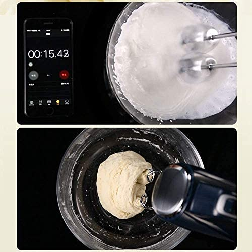 LKNJLL 10-Speed Hand Mixer, 3 Attachments + Case, Zwart