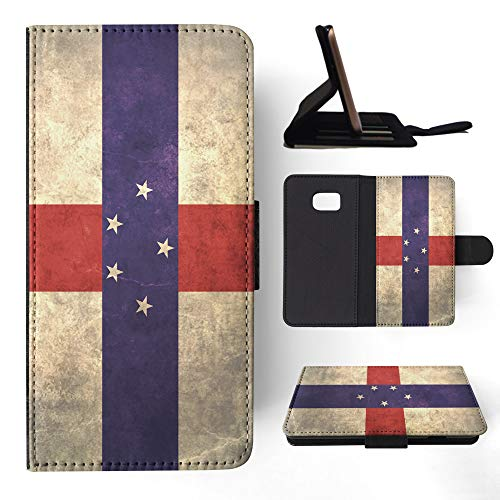 Antilles Netherlands Note (Netherlands Antilles Flag Flip Wallet Phone Case Cover for Samsung Galaxy S7 Edge)