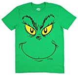Dr Seuss How the Grinch Stole Christmas Grinch Face Green Graphic T-Shirt - 2XL