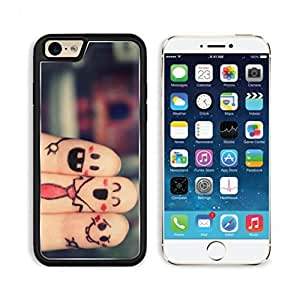 Happy Fingers Friends Artistic Drawings Apple iPhone 6 TPU Snap Cover Premium Aluminium Design Back Plate Case Customized Made to Order Support Ready Luxlady iPhone_6 Professional Case Touch Accessories Graphic Covers Designed Model Sleeve HD Template Wallpaper Photo Jacket Wifi Luxury Protector Wireless Cellphone Cell Phone