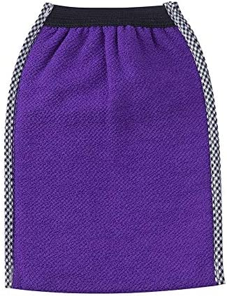 手袋 日常 実用 大人用入浴用手袋両面強力バックバブリンググローブ (Color : Purple)