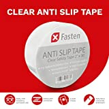 XFasten Anti Slip Tape Clear, 2-Inch by 30-Foot Safety Track Tape