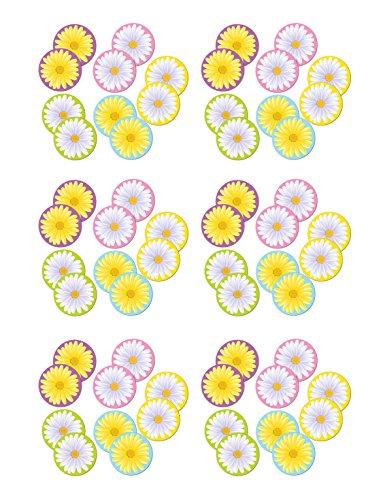 Beistle S54867AZ6, 60 Piece Mini Daisy Cutouts, 4