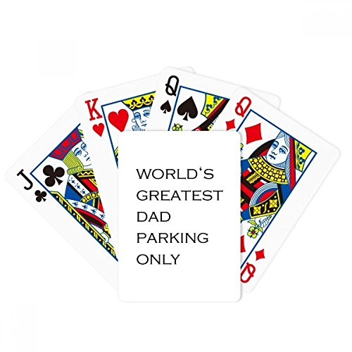 DIYthinker World's Greatest Dad Father's Festival Quote Poker Playing Card Tabletop Board Game Gift