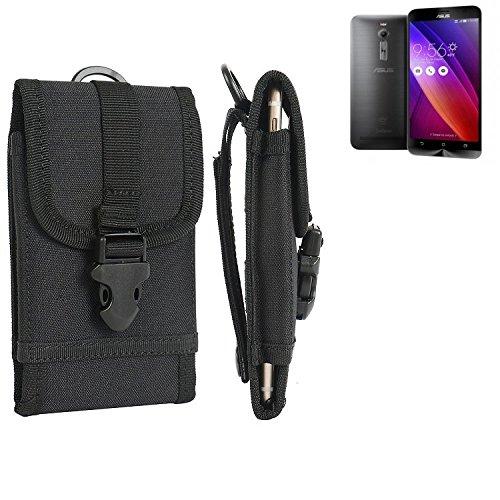 bolsa del cinturón / funda para Asus ZenFone 2, negro | caja del teléfono cubierta protectora bolso - K-S-Trade (TM)