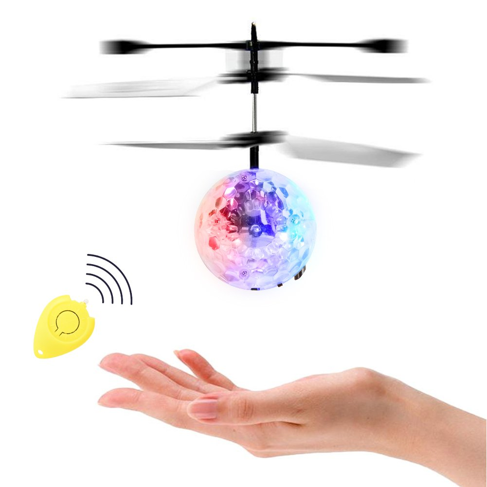 Acefun Flying Balls Hand Induced Flight con luces LED, RC Drone Helicopter Ball con LED brillante iluminación intermitente para niños, adolescentes