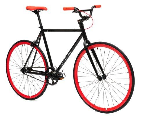 Critical Cycles Fixed Gear Single Speed Fixie Urban Road Bike (Celeste/Silver,...