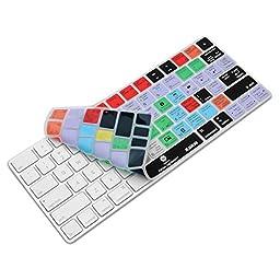 XSKN Magic Keyboard Lightroom Shortcut Keyboard Cover, XSKN Durable LR Hotkeys Silicone Keyboard Skin for Apple Magic Keyboard MLA22LL/A, US version