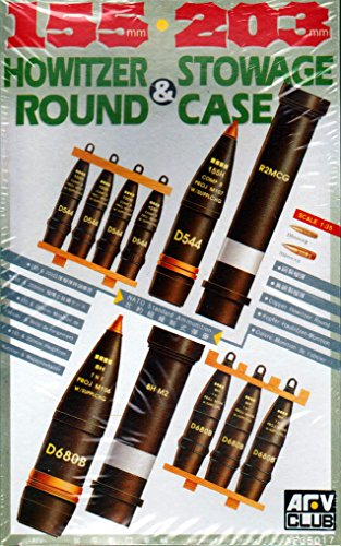 155 & 203mm Howitzer Ammo & Stowage Case (Turned Brass) 1-35 AFV Club