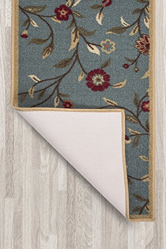 Ottomanson Ottohome Collection Floral Garden Design Non