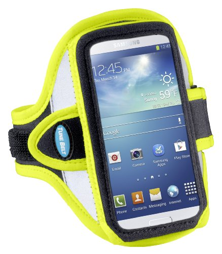 Armband for iPhone 6, 6s, 7; Also for iPhone SE with OtterBox Commuter Case – Great for Running & Gym Workouts for Men & Women – Super Reflective & Sweat-Resistant Design [Yellow]