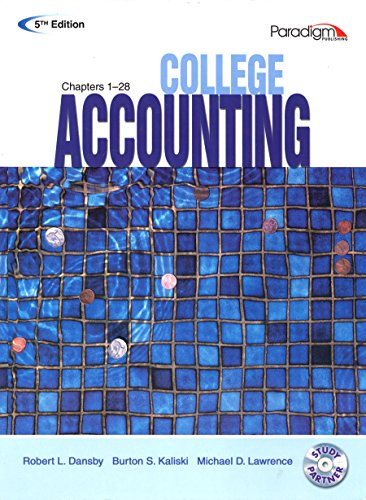 COLLEGE ACCOUNTING (STUDENT COURSEWARE TEXT CHAPTERS 1-28 WITH STUDY PARTNER CD) 5TH ED, 5TH ED