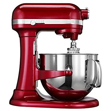 Kitchenaid RKP26M1XCA Professional 600 Stand Mixer, 6-quart, Candy Apple Red (Certified Refurbished)