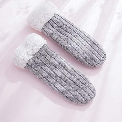手袋 日常 実用 手袋女性の冬のプラスベルベットストライプは、冬の乗馬グローブをブレンド (Color : Gray, Size : One size)