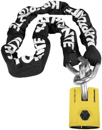 Kryptonite New York Legend Chain 1515 - 5 Ft./Black/White/Yellow by Kryptonite