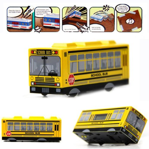 Q Version Of The Fall-prevention Intelligent And Creative Alarm Clock - School Bus