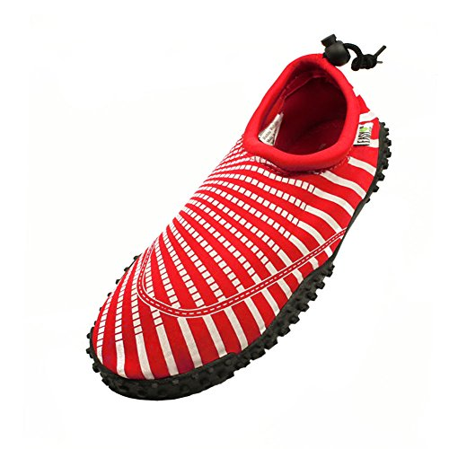 Water Women's Slip Easy On Red Shoes USA 50wr0FEqI