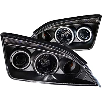 Anzo USA 121198 Ford Focus Black Clear Projector With Halos Headlight Assembly - (Sold in Pairs)