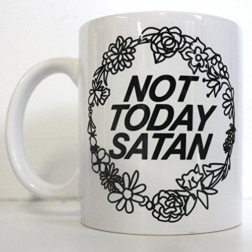 Not Today Satan Printed Mug Cute Personalised Custom Gift Christmas Secret Santa Cuppa Brew Bianca Del Rio RuPaul Drag Race Trans LGBT Queer