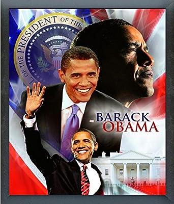 "President Barack Obama Composite Photo (Size: 12"" x 15"") Framed"