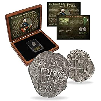 IMPACTO COLECCIONABLES Monedas de ESPAÑA - Moneda de Plata de Las Antiguas Colonias Españolas. Acuñada Entre 1.700 y 1746