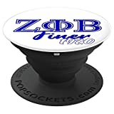 Zeta Phi Finer Paraphernalia Beta Gift for Friend Sister - PopSockets Grip and Stand for Phones and Tablets
