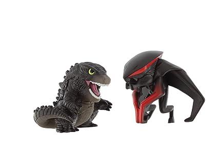 Amazon Com Godzilla Movie Chibi Figure 2 Pack With Godzilla Figure