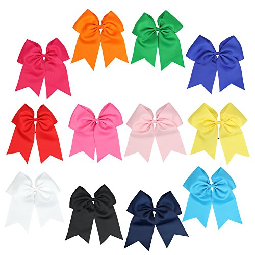 icobuty-12-pcs-8-jumbo-cheer-bows-ponytail-holder-cheerleading-bows-for-teens-girl