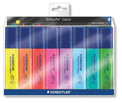 Staedtler 364 WP8 Textsurfer classic Textmarker 8 Stück im Weichplastiketui