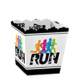 Big Dot of Happiness Set The Pace - Running - Party Mini Favor Boxes - Track, Cross Country or Marathon Party Treat Candy Boxes – Set of 12