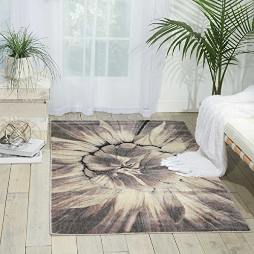 (Nourison Utopia (UTP05) Ivtau Rectangle Area Rug, 7-Feet 9-Inches by 10-Feet 10-Inches (7'9