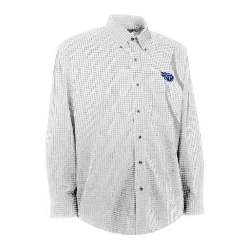 NFL Men s Tennessee Titans Esteem Woven Dress Shirt (White Grey 31a6765a5