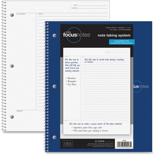 TOP90223 - Tops FocusNotes Notebook, 11quot; x 9quot;, White