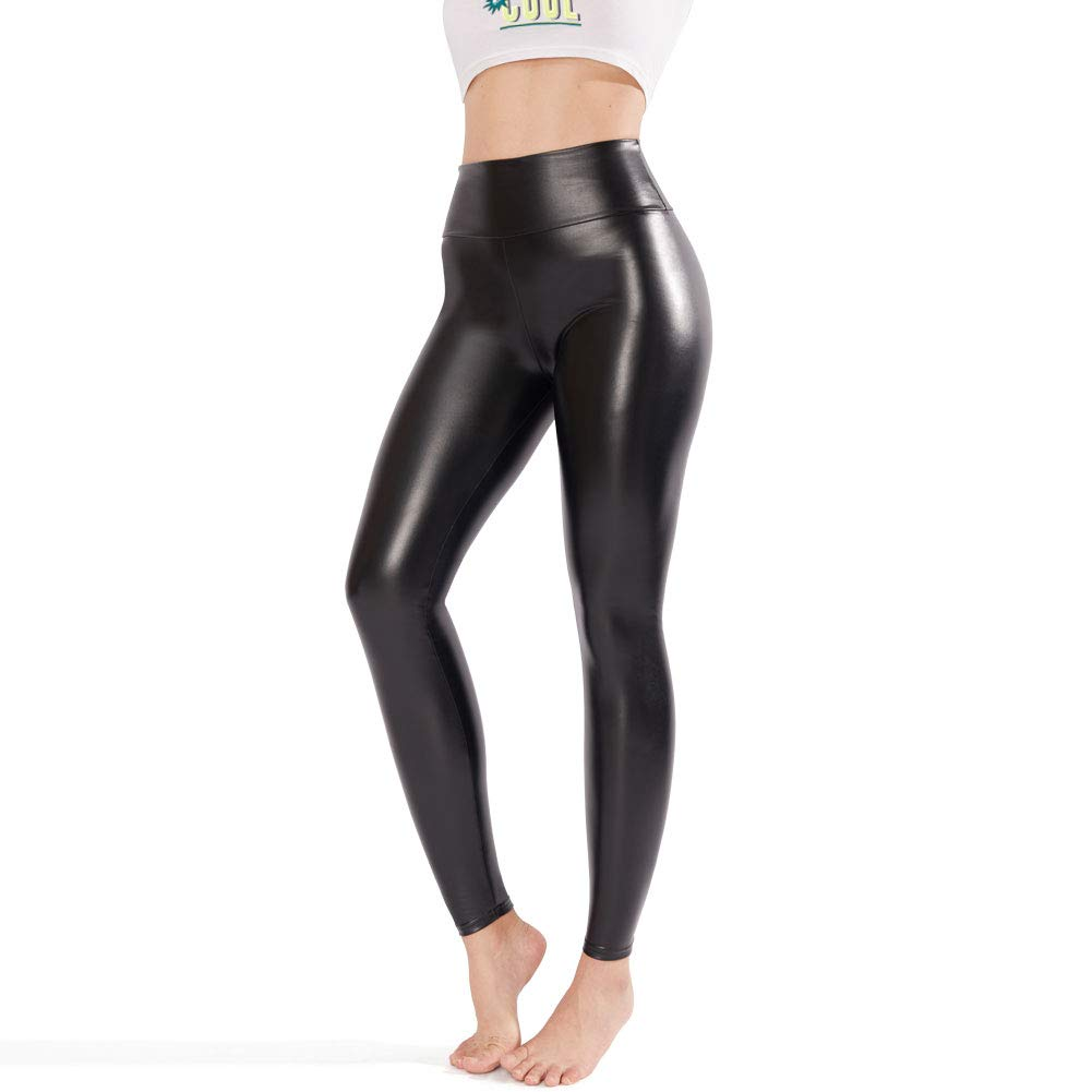 0cbd896a9441c6 MATERIAL : High Quality Stretchy Synthetic Leggings (Polyester + Spandex).  Package:1 pair of Tights. Features: Slim Fit Shiny Skinny Metallic Full  Length ...