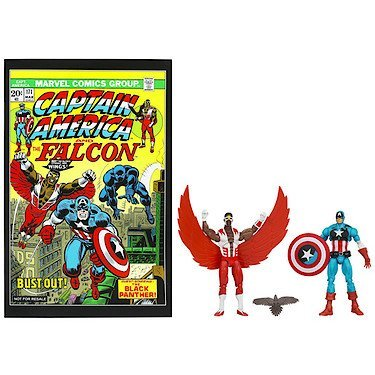 Marvel Greatest Battles Comic Book Pack with 2 Action Figures, Captain America & Falcon