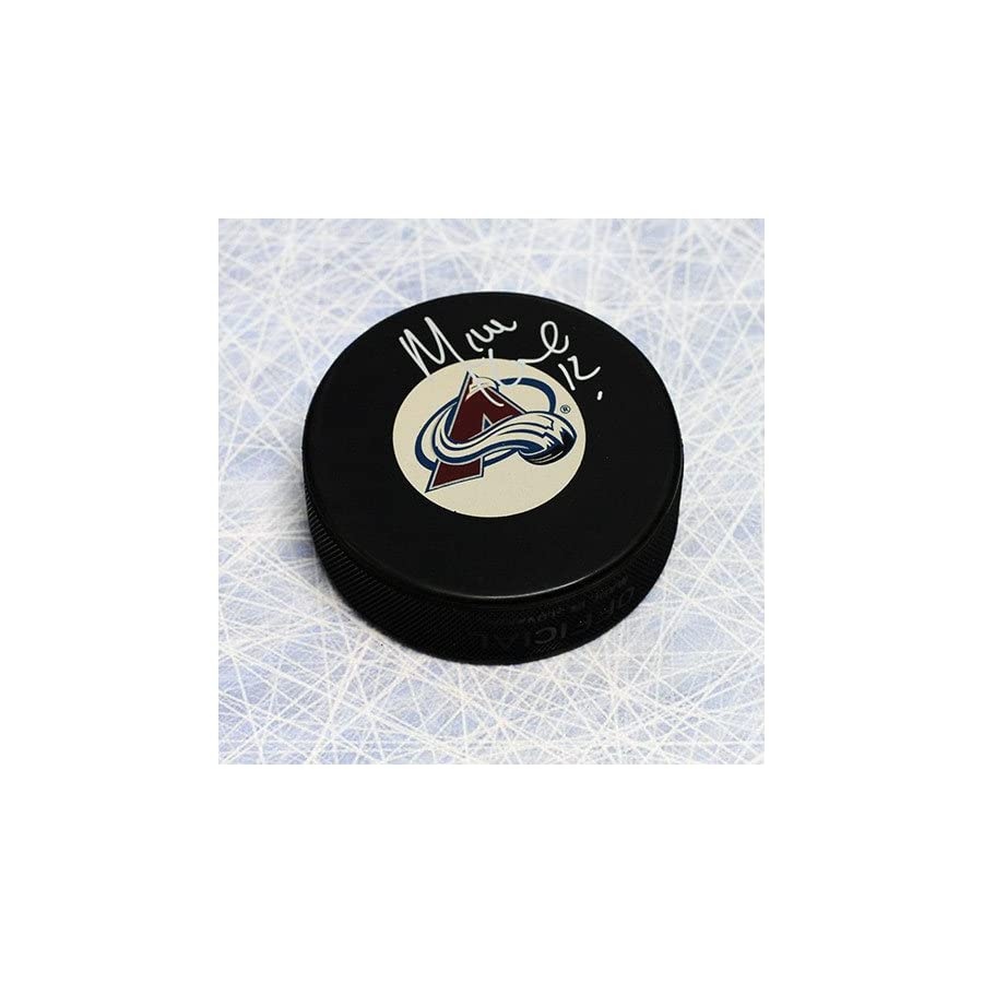 Mike Keane Colorado Avalanche Autographed Hockey Puck Autographed Hockey Pucks