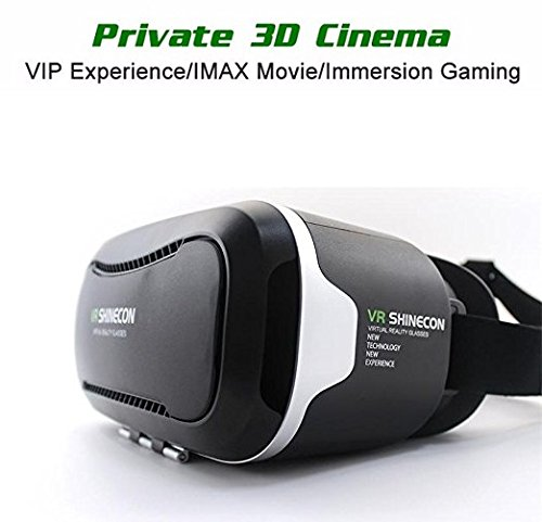 """3D VR Headset, Shinecon 2.0, Virtual Reality Glasses w/Pupil distance adjustment 360 degree Viewing Immersive Goggle for iPhone / Android Smartphone 4.7""""-6.0"""""""
