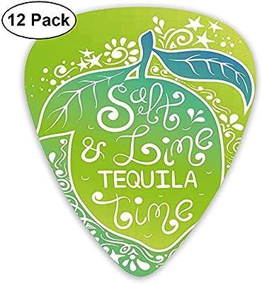 Paquete de 12 púas para guitarra, tonos verdes, vibrante diseño ...
