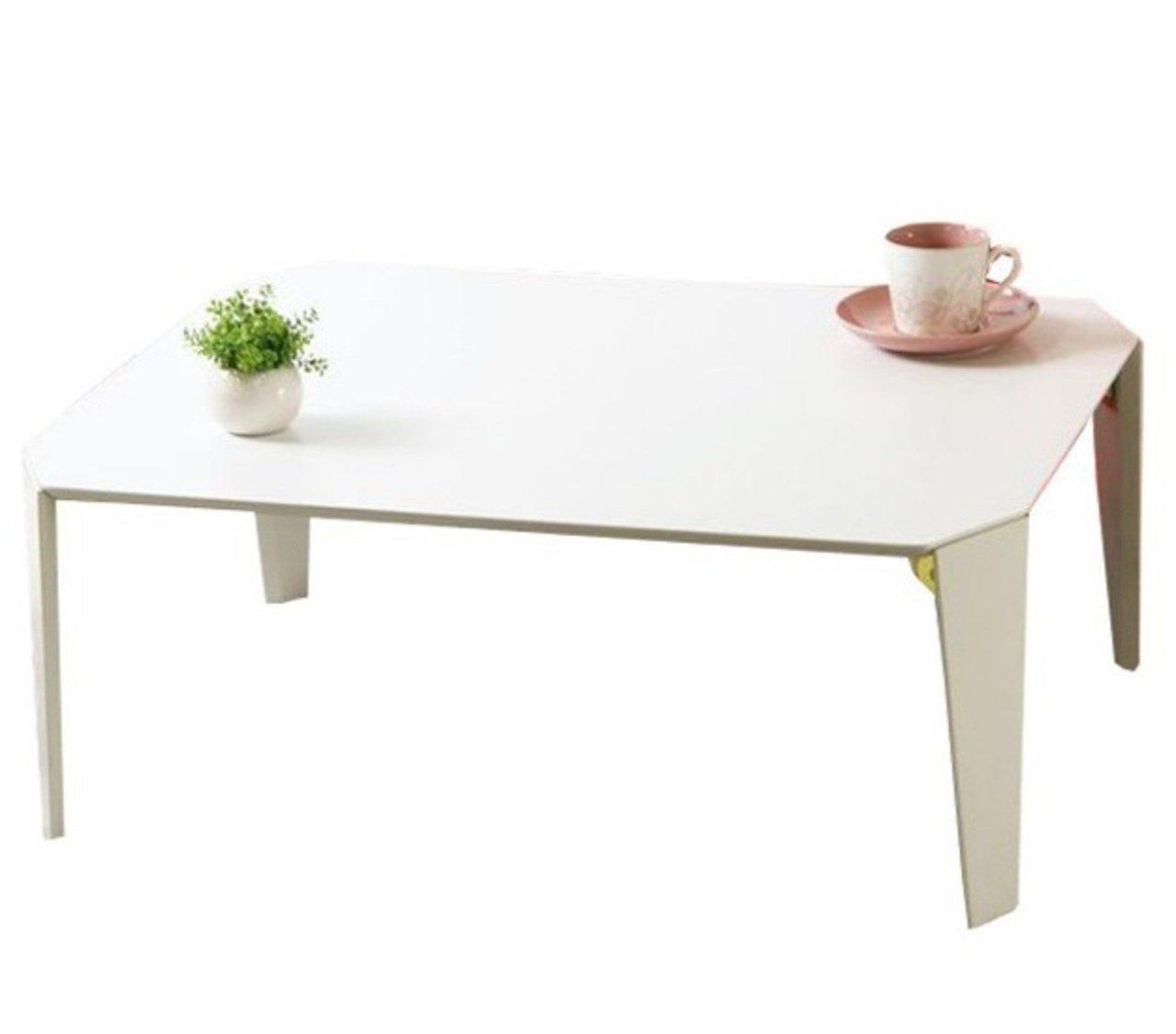 AHEART ローテーブル 折りたたみ 75cm幅 ひとり暮らし コンパクト 完成品 SI 201 ホワイト B07CVQ39J6  ホワイト