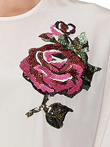 Dolce & Gabbana Femme F71L0ZFU1HSW0800 Blanc Soie Blouse