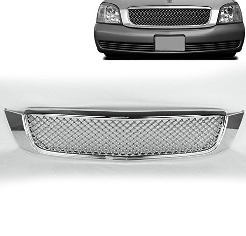 ZMAUTOPARTS Cadillac Deville Front Upper Hood Mesh Grille Insert Chrome