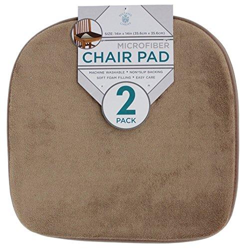 Sultan's Linens 2pk Microfiber Chair / Seat Cushion Pads (Beige)
